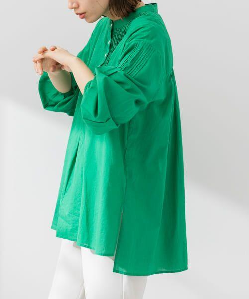 Sonny Label / サニーレーベル シャツ・ブラウス | コットンタックドレスシャツ | 詳細18