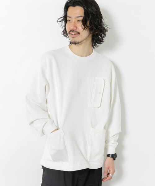 Sonny Label / サニーレーベル スウェット | VERTIGO DESIGNS Chest Flap Sweat Pullover(WHITE)