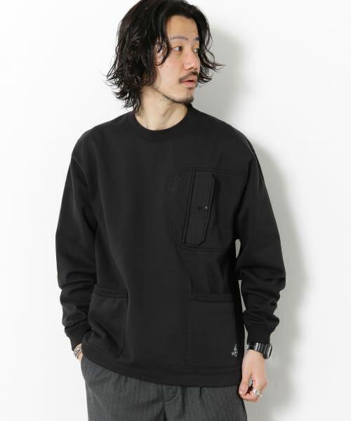 Sonny Label / サニーレーベル スウェット | VERTIGO DESIGNS Chest Flap Sweat Pullover(BLACK)