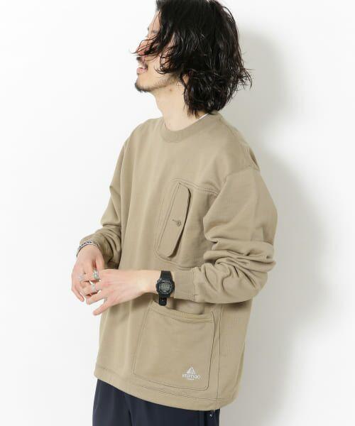 Sonny Label / サニーレーベル スウェット | VERTIGO DESIGNS Chest Flap Sweat Pullover(BEIGE)