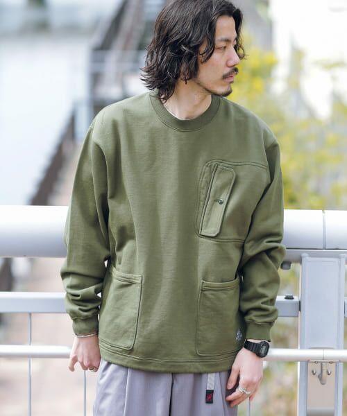 Sonny Label / サニーレーベル スウェット | VERTIGO DESIGNS Chest Flap Sweat Pullover(KHAKI)