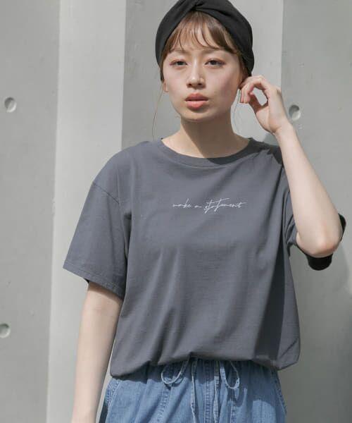Sonny Label / サニーレーベル Tシャツ | 【WEB限定】フロントレタリングTシャツ(GRAY)