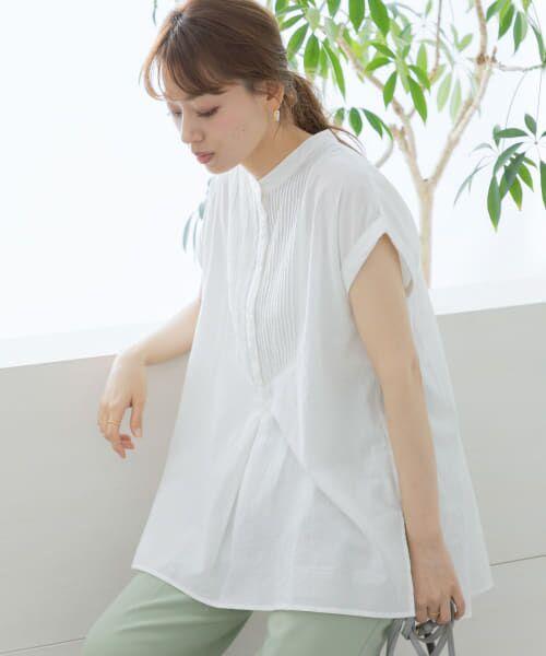 Sonny Label / サニーレーベル シャツ・ブラウス | エアリーコットンピンタックドレスシャツ(オフ)