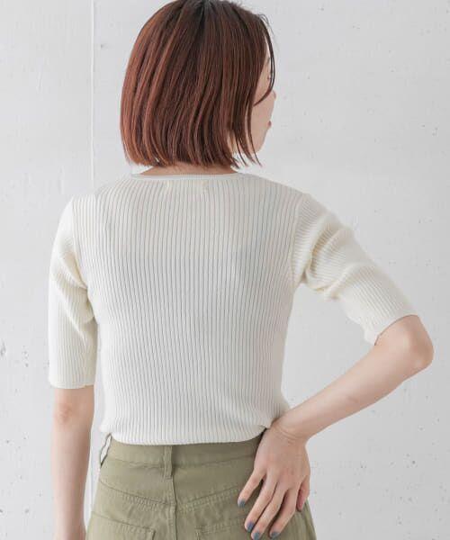 Sonny Label / サニーレーベル Tシャツ   ベーシックリブニットTシャツ   詳細2