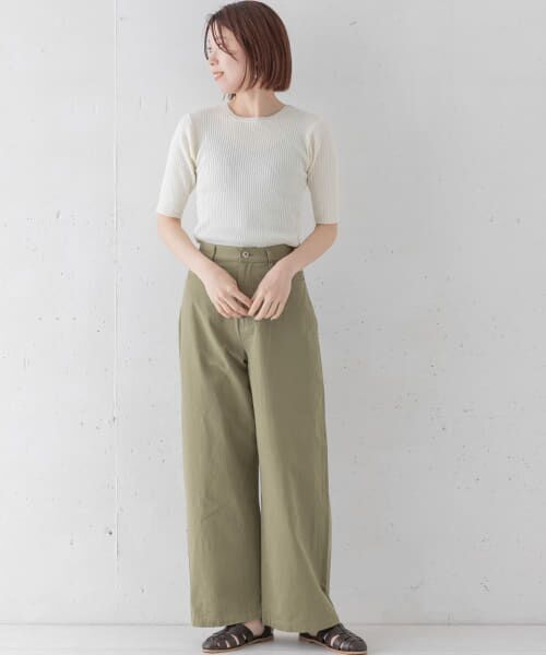 Sonny Label / サニーレーベル Tシャツ   ベーシックリブニットTシャツ   詳細3