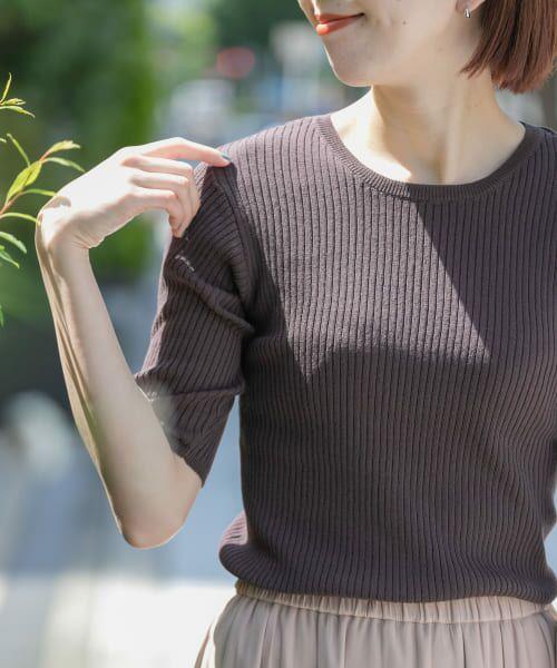 Sonny Label / サニーレーベル Tシャツ   ベーシックリブニットTシャツ   詳細5