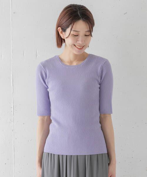 Sonny Label / サニーレーベル Tシャツ   ベーシックリブニットTシャツ   詳細8