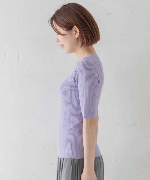 Sonny Label / サニーレーベル Tシャツ   ベーシックリブニットTシャツ   詳細9