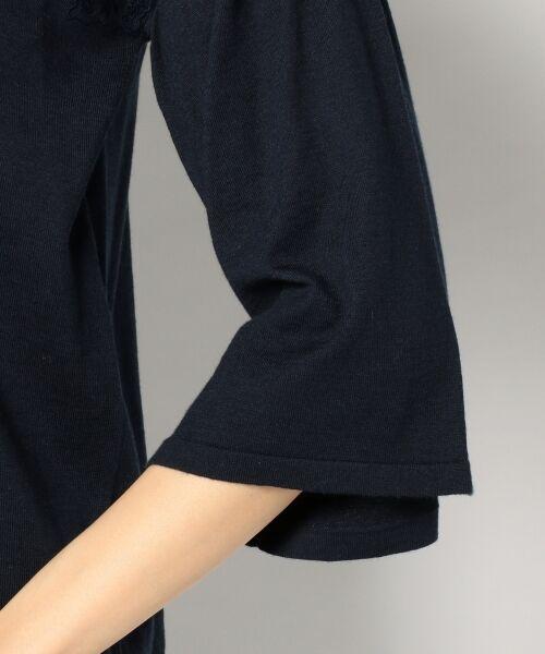 S size ONWARD(小さいサイズ) / エスサイズオンワード ニット・セーター | 【シルク混】コットンシルクエンブロイダリー ニット | 詳細8