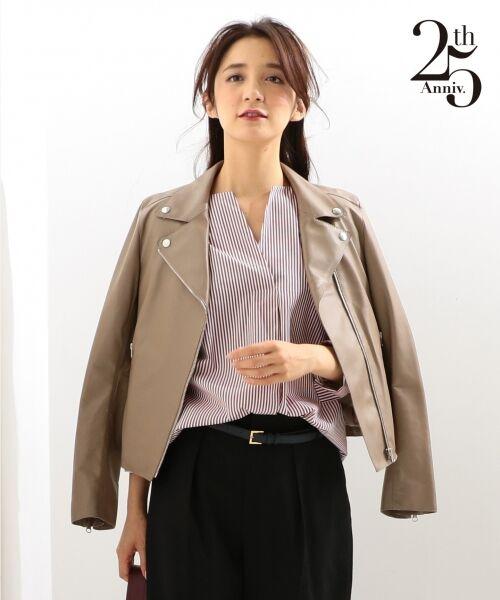 【25周年アイテム】シープレザー ライダースジャケット