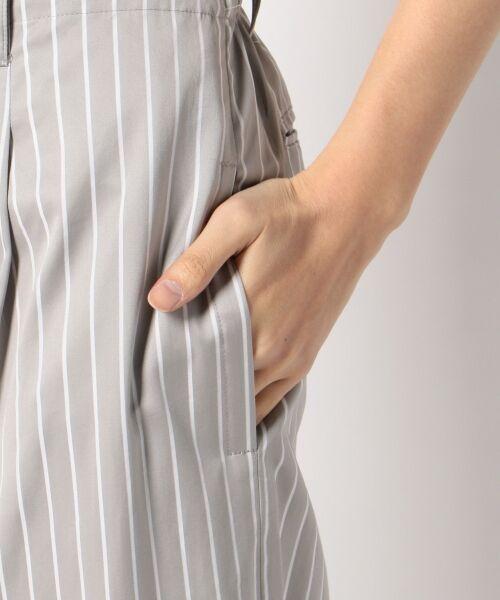 S size ONWARD(小さいサイズ) / エスサイズオンワード その他パンツ | 【洗える】ALBIATE コットンサテン ワイドパンツ | 詳細10