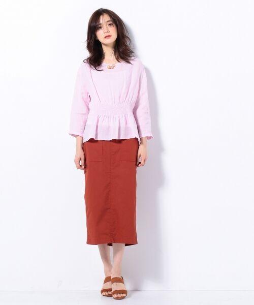 S size ONWARD(小さいサイズ) / エスサイズオンワード デニムスカート | 【洗える】23区denim カラーデニム タイトスカート | 詳細2