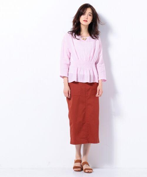 S size ONWARD(小さいサイズ) / エスサイズオンワード デニムスカート | 【洗える】23区denim カラーデニム タイトスカート | 詳細3