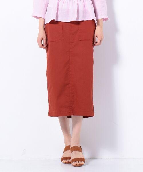 S size ONWARD(小さいサイズ) / エスサイズオンワード デニムスカート | 【洗える】23区denim カラーデニム タイトスカート(キャメル系)