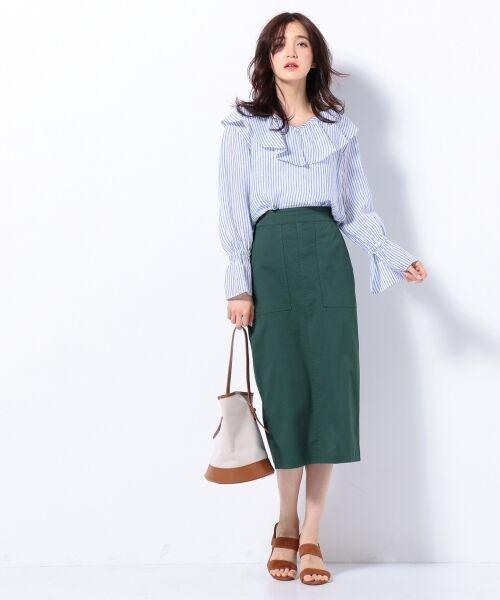 S size ONWARD(小さいサイズ) / エスサイズオンワード デニムスカート | 【洗える】23区denim カラーデニム タイトスカート | 詳細13
