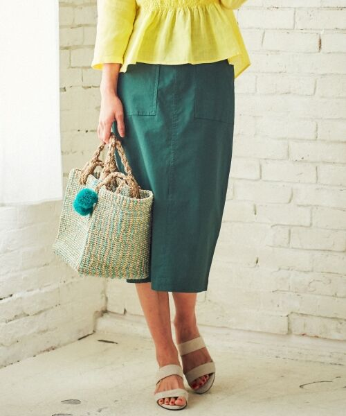 S size ONWARD(小さいサイズ) / エスサイズオンワード デニムスカート | 【洗える】23区denim カラーデニム タイトスカート(ダークグリーン系)