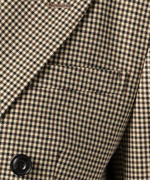 S size ONWARD(小さいサイズ) / エスサイズオンワード テーラードジャケット   【2018秋の限定カラー】REGGIANIチェックストレッチ ダブル前ジャケット   詳細10