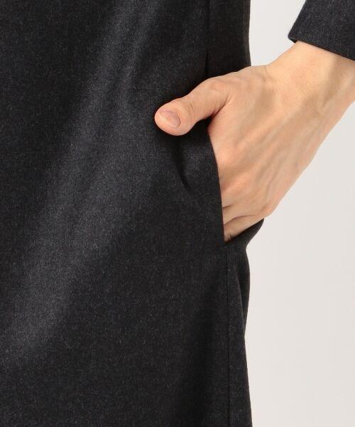 S size ONWARD(小さいサイズ) / エスサイズオンワード ミニ丈・ひざ丈ワンピース | ウールサキソニーストレッチ ワンピース | 詳細7
