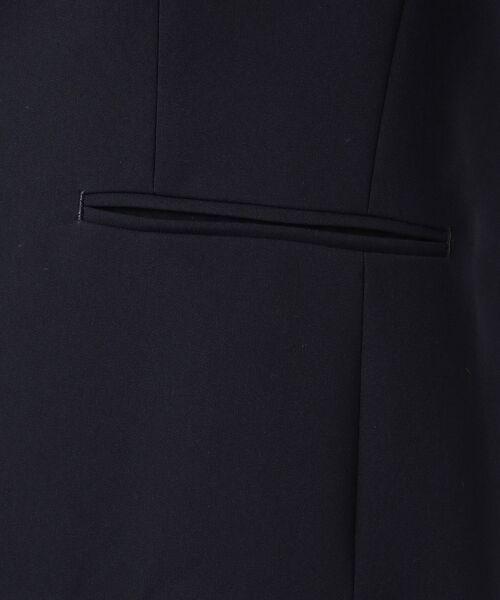 S size ONWARD(小さいサイズ) / エスサイズオンワード ノーカラージャケット | 【洗える】トリアセダブルジョーゼット ノーカラージャケット | 詳細12
