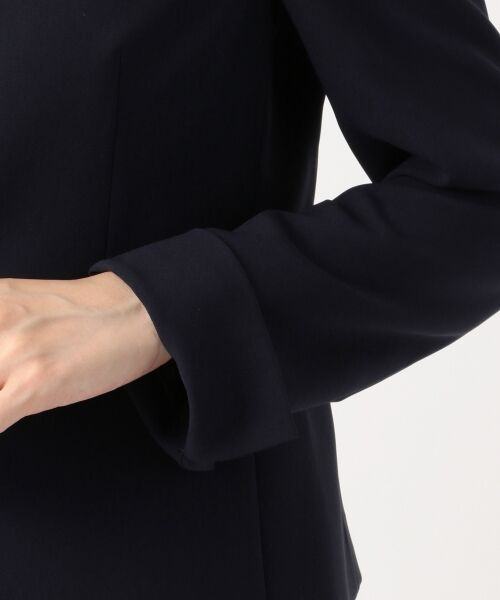S size ONWARD(小さいサイズ) / エスサイズオンワード ノーカラージャケット | 【洗える】トリアセダブルジョーゼット ノーカラージャケット | 詳細8