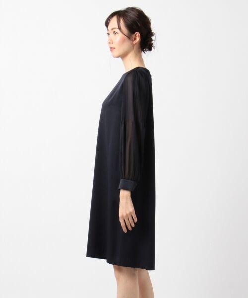 S size ONWARD(小さいサイズ) / エスサイズオンワード ドレス | シフォンスリーブサテン ワンピース | 詳細4