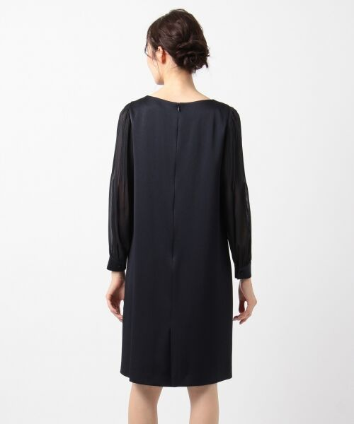 S size ONWARD(小さいサイズ) / エスサイズオンワード ドレス | シフォンスリーブサテン ワンピース | 詳細5