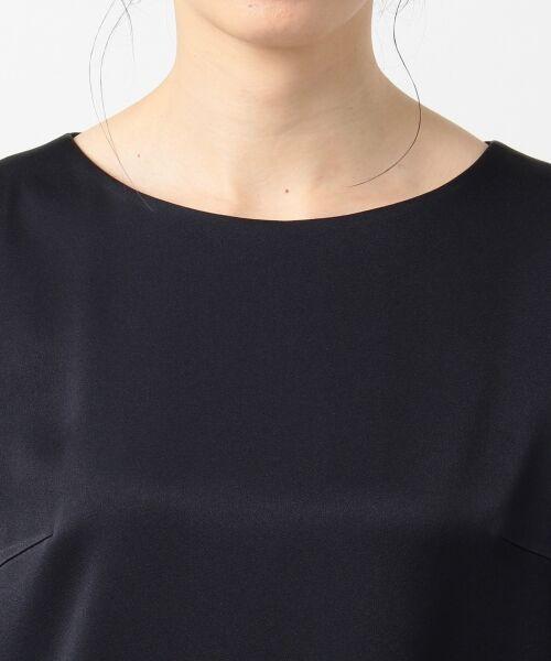 S size ONWARD(小さいサイズ) / エスサイズオンワード ドレス | シフォンスリーブサテン ワンピース | 詳細6
