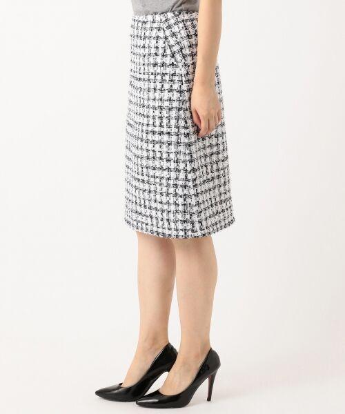 S size ONWARD(小さいサイズ) / エスサイズオンワード ミニ・ひざ丈スカート | 【セットアップ対応】CLALENSON チェックツイード スカート | 詳細1