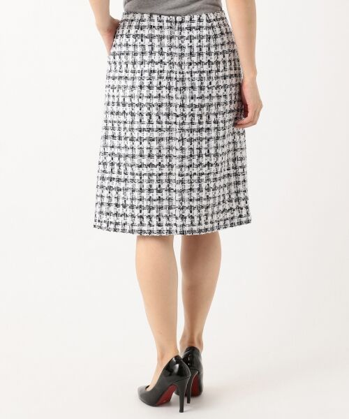 S size ONWARD(小さいサイズ) / エスサイズオンワード ミニ・ひざ丈スカート | 【セットアップ対応】CLALENSON チェックツイード スカート | 詳細2