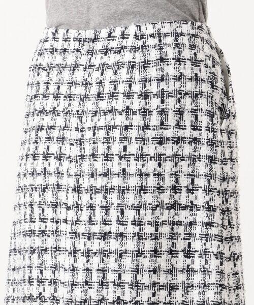 S size ONWARD(小さいサイズ) / エスサイズオンワード ミニ・ひざ丈スカート | 【セットアップ対応】CLALENSON チェックツイード スカート | 詳細4