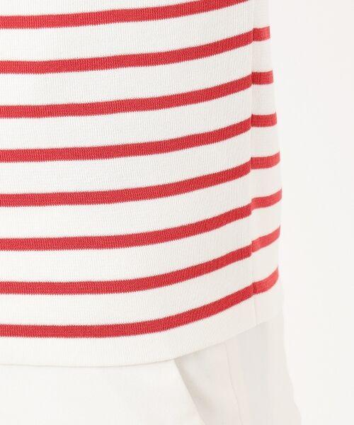 S size ONWARD(小さいサイズ) / エスサイズオンワード ニット・セーター   【マガジン掲載】ドライコットン ボーダー ボートネックニット   詳細15