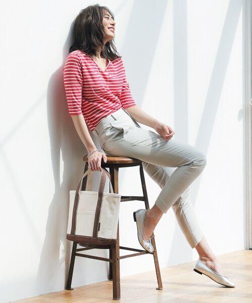 S size ONWARD(小さいサイズ) / エスサイズオンワード Tシャツ | 【中村アンさん着用】ALBINI コットンボーダー カットソー | 詳細3