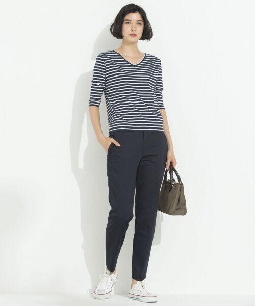 S size ONWARD(小さいサイズ) / エスサイズオンワード Tシャツ | 【中村アンさん着用】ALBINI コットンボーダー カットソー | 詳細13