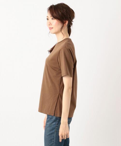 S size ONWARD(小さいサイズ) / エスサイズオンワード Tシャツ | 【洗える】コットンプレミアム天竺 カットソー | 詳細8