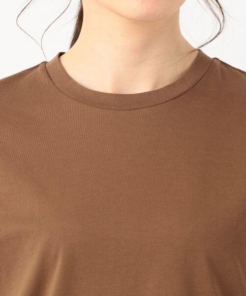 S size ONWARD(小さいサイズ) / エスサイズオンワード Tシャツ | 【洗える】コットンプレミアム天竺 カットソー | 詳細10