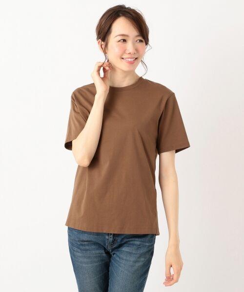 S size ONWARD(小さいサイズ) / エスサイズオンワード Tシャツ | 【洗える】コットンプレミアム天竺 カットソー | 詳細7