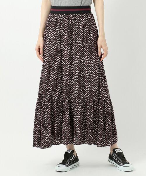 S size ONWARD(小さいサイズ) / エスサイズオンワード ミニ・ひざ丈スカート | 【L'aube】アンティークフラワーロング スカート | 詳細4