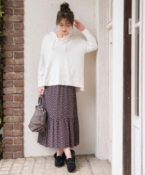 S size ONWARD(小さいサイズ) / エスサイズオンワード ミニ・ひざ丈スカート | 【L'aube】アンティークフラワーロング スカート | 詳細1