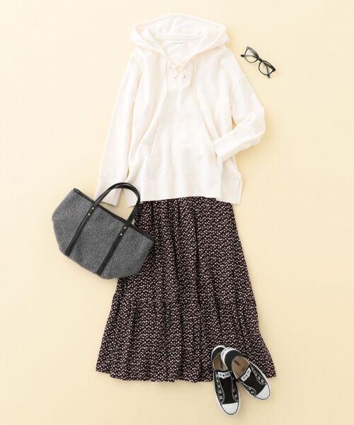 S size ONWARD(小さいサイズ) / エスサイズオンワード ミニ・ひざ丈スカート | 【L'aube】アンティークフラワーロング スカート | 詳細3