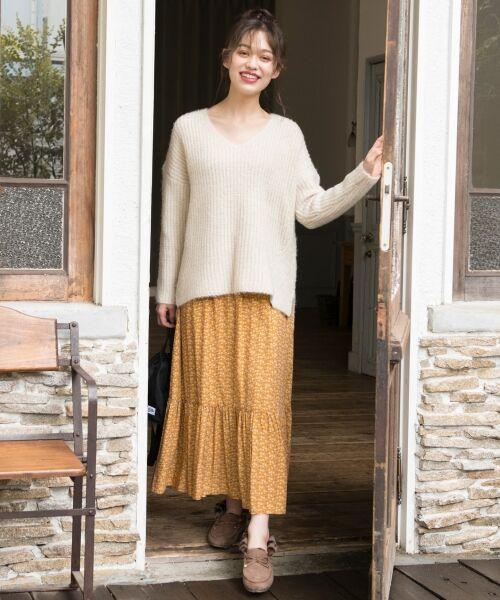S size ONWARD(小さいサイズ) / エスサイズオンワード ミニ・ひざ丈スカート | 【L'aube】アンティークフラワーロング スカート | 詳細6