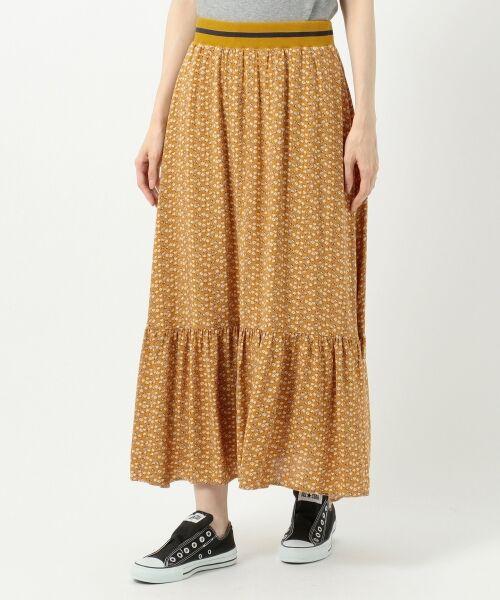 S size ONWARD(小さいサイズ) / エスサイズオンワード ミニ・ひざ丈スカート | 【L'aube】アンティークフラワーロング スカート | 詳細12