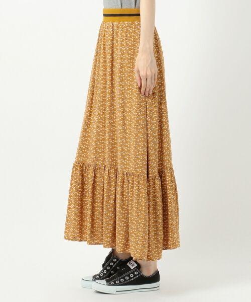 S size ONWARD(小さいサイズ) / エスサイズオンワード ミニ・ひざ丈スカート | 【L'aube】アンティークフラワーロング スカート | 詳細13