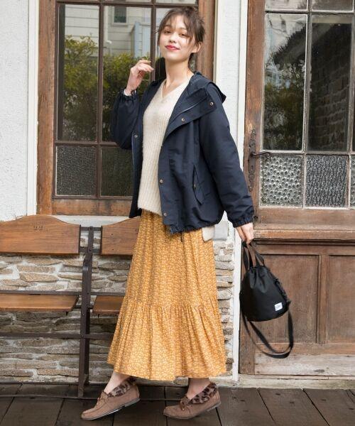 S size ONWARD(小さいサイズ) / エスサイズオンワード ミニ・ひざ丈スカート | 【L'aube】アンティークフラワーロング スカート | 詳細7