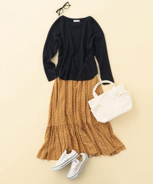 S size ONWARD(小さいサイズ) / エスサイズオンワード ミニ・ひざ丈スカート | 【L'aube】アンティークフラワーロング スカート | 詳細10