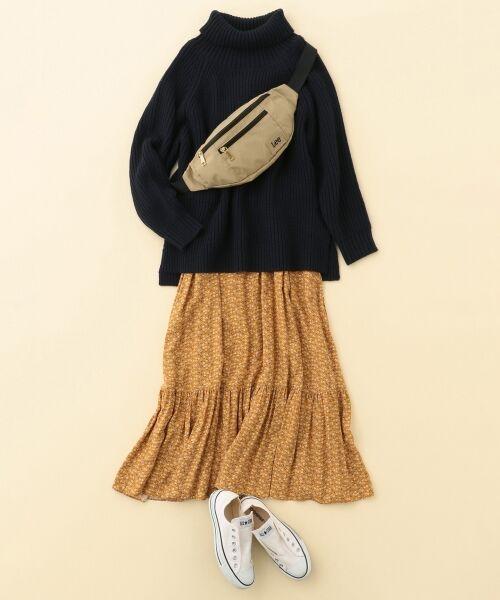 S size ONWARD(小さいサイズ) / エスサイズオンワード ミニ・ひざ丈スカート | 【L'aube】アンティークフラワーロング スカート | 詳細11