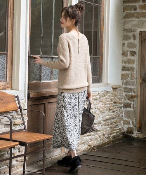 S size ONWARD(小さいサイズ) / エスサイズオンワード ミニ・ひざ丈スカート | 【L'aube】レオパードマーメイド スカート | 詳細1