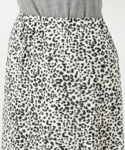 S size ONWARD(小さいサイズ) / エスサイズオンワード ミニ・ひざ丈スカート | 【L'aube】レオパードマーメイド スカート | 詳細12