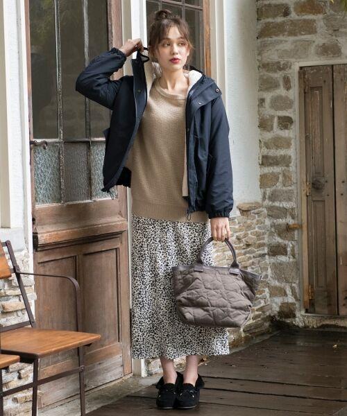 S size ONWARD(小さいサイズ) / エスサイズオンワード ミニ・ひざ丈スカート | 【L'aube】レオパードマーメイド スカート | 詳細2