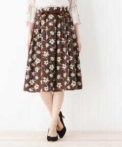 ヴィンテージ風フラワープリントスカート