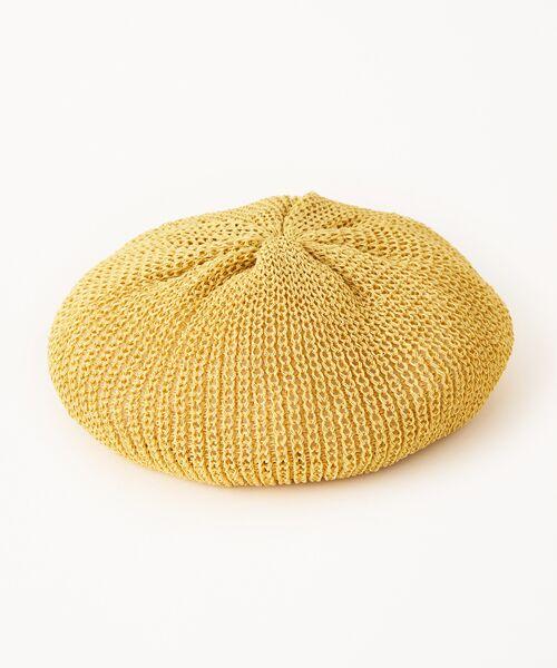 STYLE & EDIT / スタイル&エディット ハンチング・キャスケット・ベレー帽 | ベレー帽(イエローベージュ)